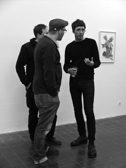 """На открытии выставки работ Марка из коллекции """"Devouring Ghost"""", Дюссельдорф, 2015"""